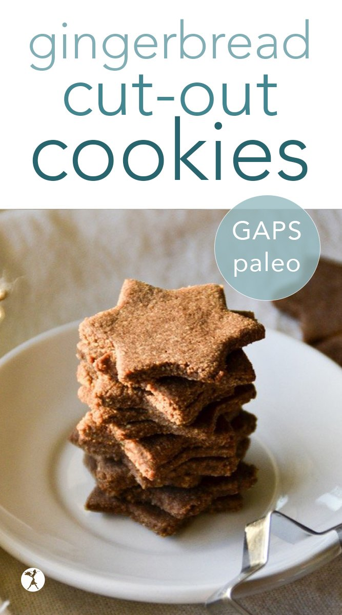 Love gingerbread, but can't find a healthy option? You can enjoy that holiday favorite again with these refined sugar-free paleo gingerbread cutout cookies! #gingerbread #cutout #cookies #dessert #paleo #gapsdiet #molassesfree #refinedsugarfree #eggfreeoption #dairyfree