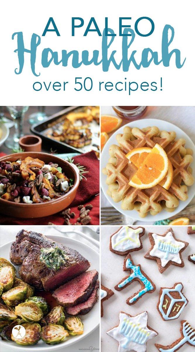 A Paleo Hanukkah - over 50 recipes! #paleo #hanukkah #kosher #holydays #festivaloflights #realfood #glutenfree #dairyfree
