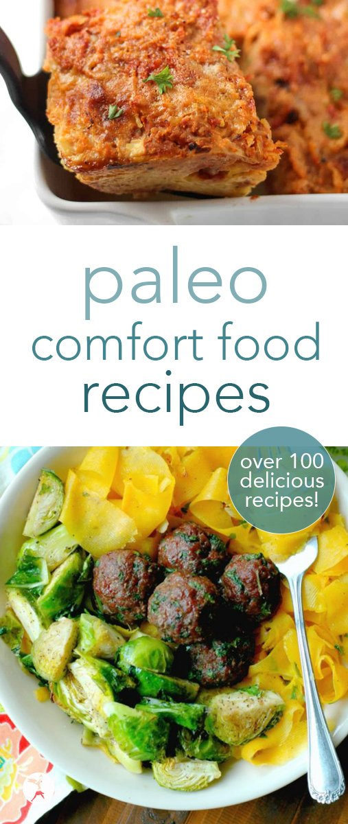 Craving a roast? pasta? a nice comforting casserole? How about a hearty stew or some seafood? All the paleo comfort food you'll ever need is contained here, my friends!#paleo #comfortfood #beef #chicken #lamb #seafood #stew #instantpot #slowcooker