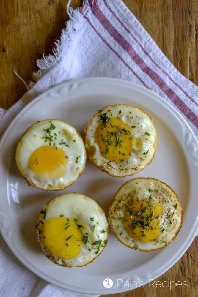 Egg & Potato Breakfast Muffins top
