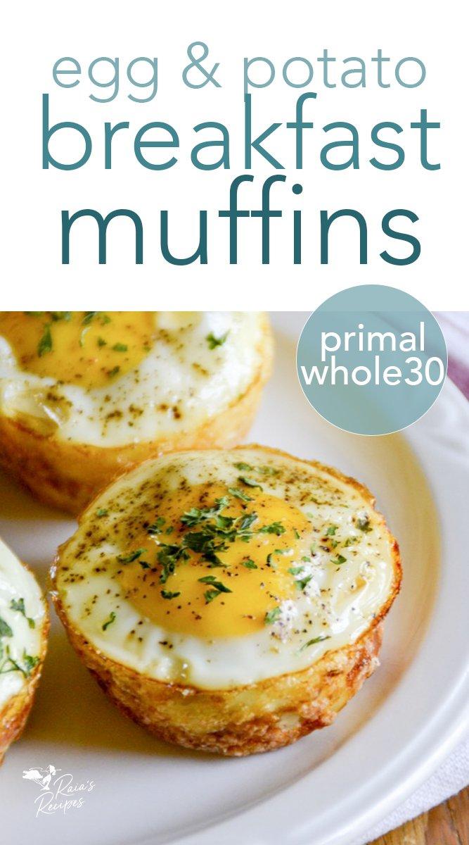 Egg & Potato Breakfast Muffins #glutenfree #eggs #potatoes #breakfast #muffins #whole30 #realfood #kids
