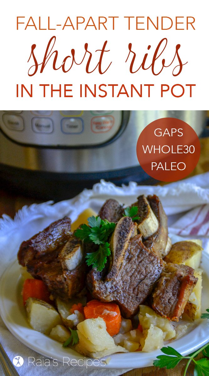 Fall-Apart Tender Short Ribs in the Instant Pot #instantpot #shortribs #beef #paleo #primal #whole30 #gapsdiet #glutenfree #dairyfree