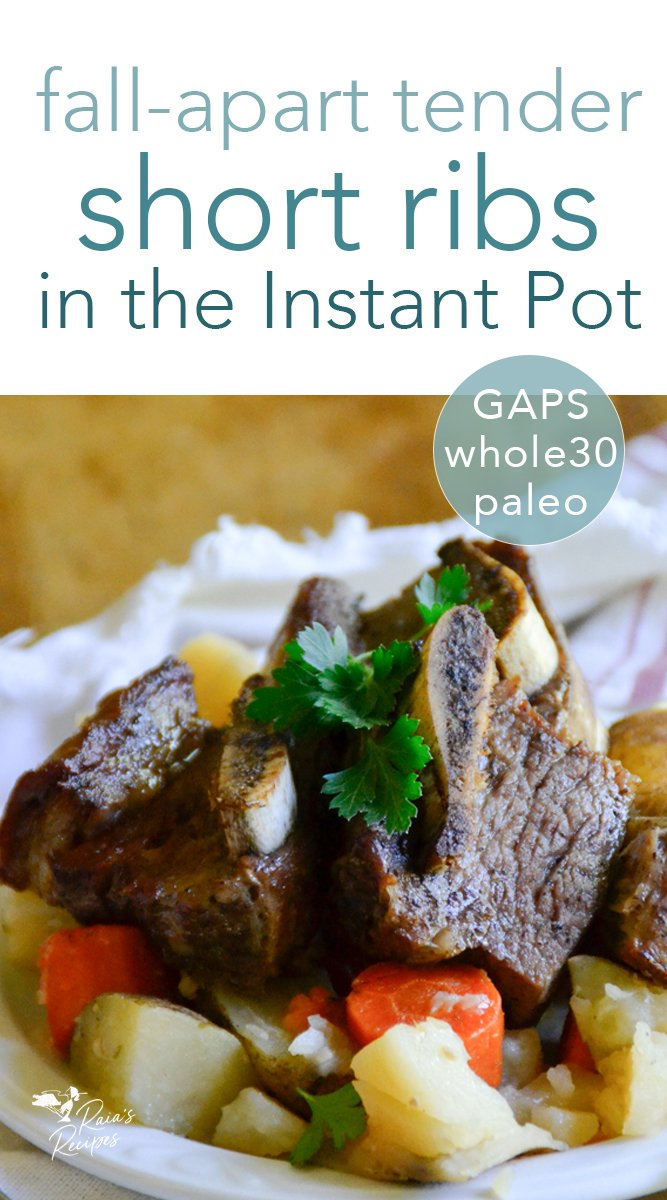 Fall-Apart Tender Short Ribs in the Instant Pot #instantpot #shortribs #beef #paleo #primal #whole30 #gapsdiet #glutenfree #dairyfree
