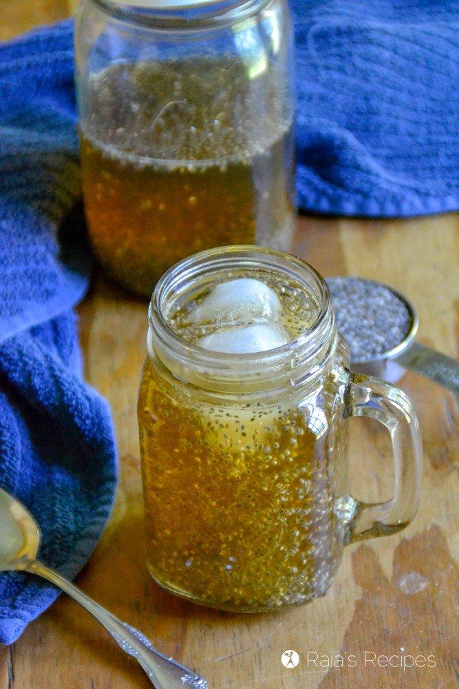 Paleo Summer Drinks Raspberry Leaf Chia Tea