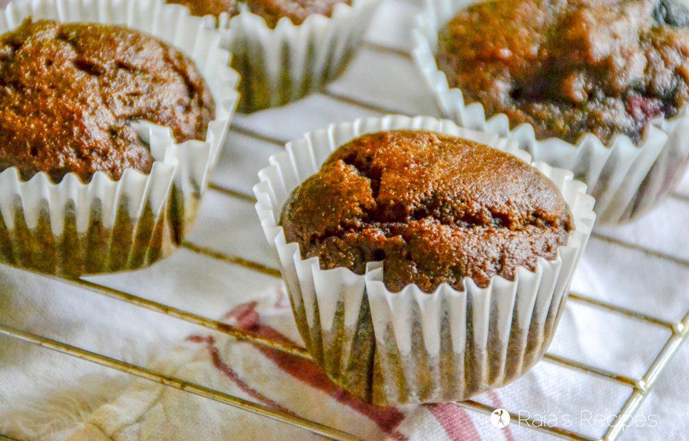 Dark Chocolate Triple Berry Muffins