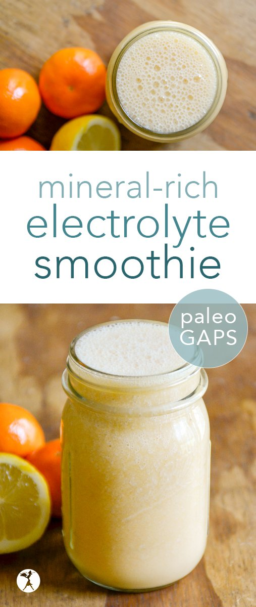 Need a delicious way to replenish your body's resources during the hot summer months? This delicious, paleo mineral-rich electrolyte smoothie will do the job! #minerals #electrolytes #smoothie #paleo #gapsdiet #realfood #nourishing #drinks