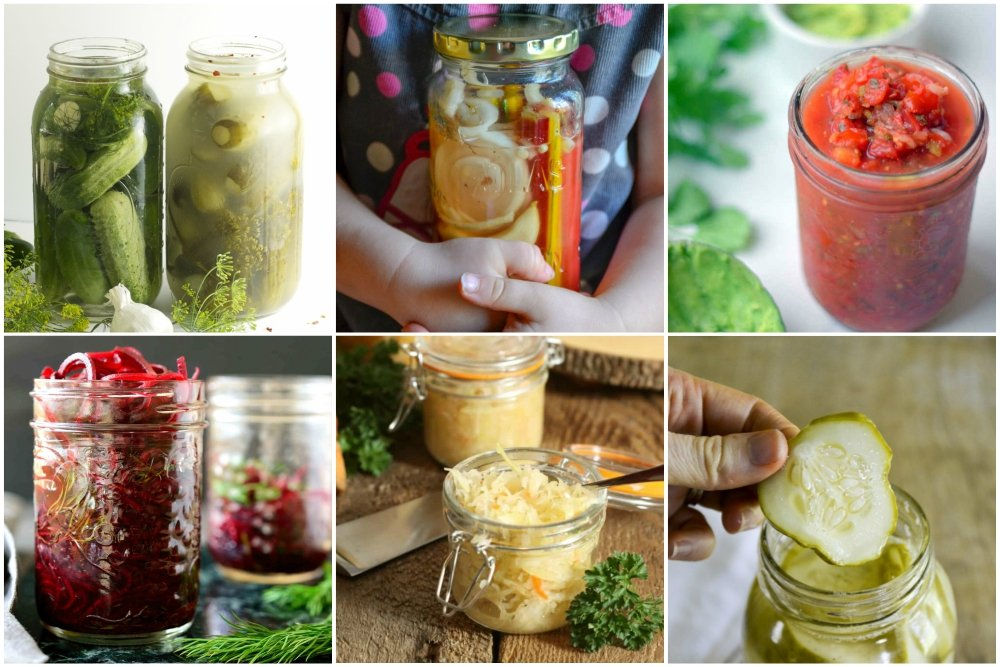Fermented Veggies Collage