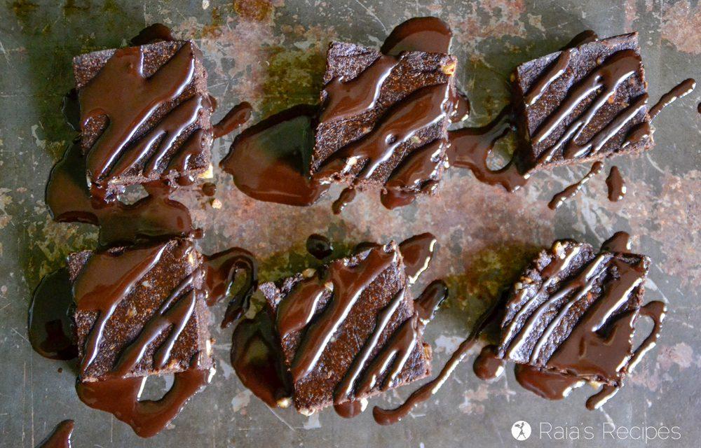 No-Bake Banana Walnut Brownies
