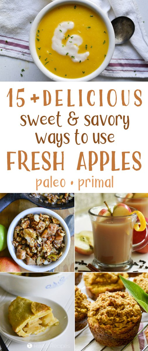 Love apples? Your eyes are gonna pop when you see these delicious sweet and savory ways to use fresh apples! And all of them are paleo/primal!