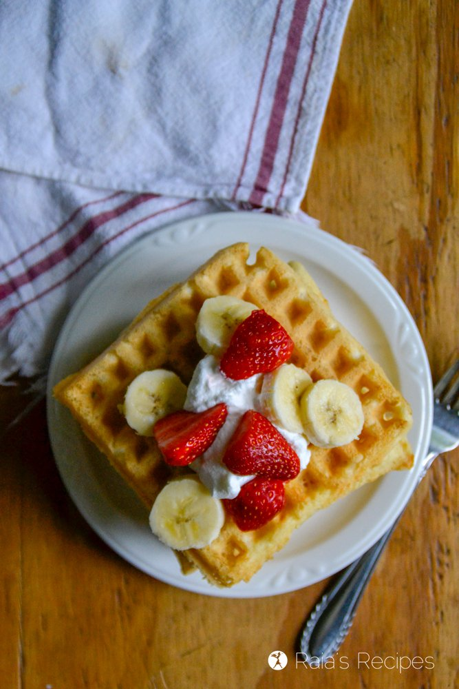 Sourdough Almond Flour Waffles from Raia's Recipes