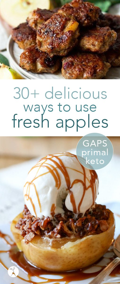 Love apples? Your eyes are gonna pop when you see these delicious sweet and savory ways to use fresh apples! And all of them fit into paleo, primal, GAPS, or keto diets! #paleo #primal #keto #gapsdiet #apples #fall #applerecipes #healthy