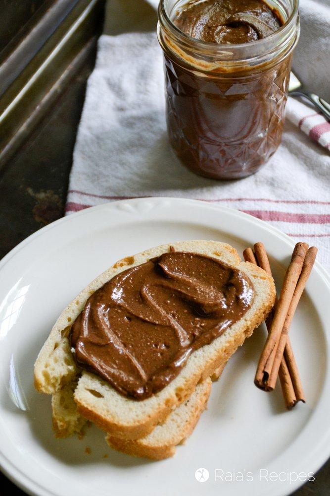 a piece of bread with cinnamon nutella from raiasrecipes.com