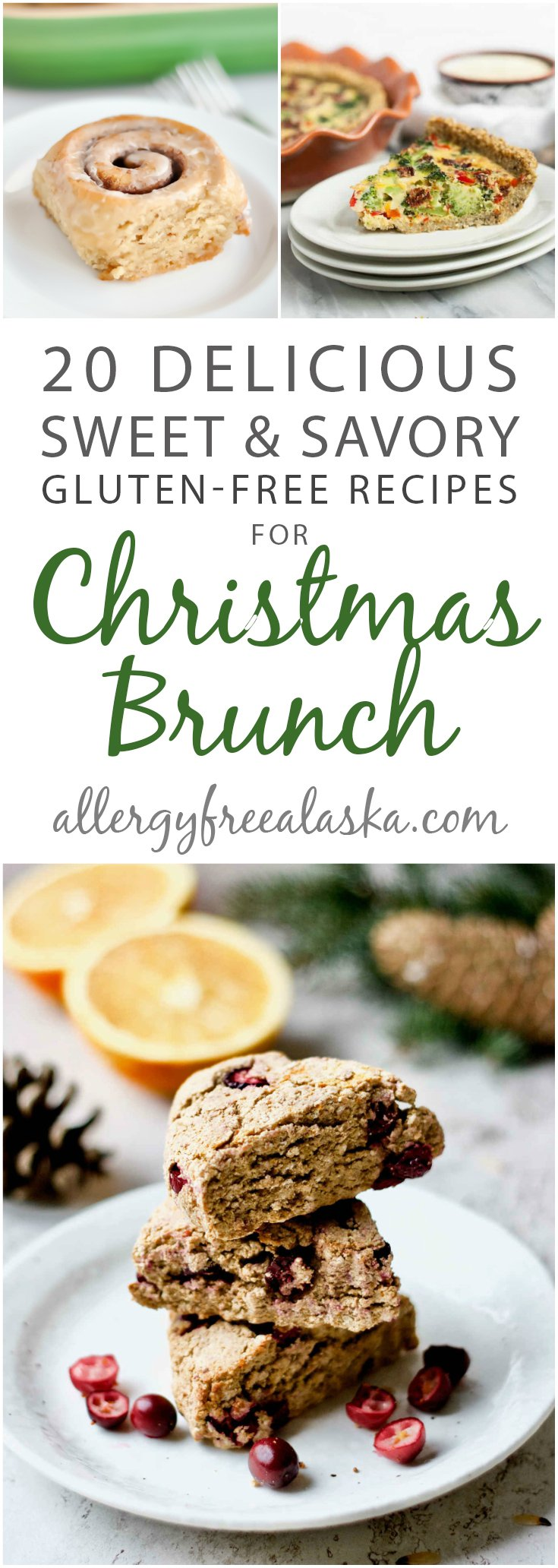 Need a delicious breakfast to go with your holiday plans? Check out these 20 gluten-free Christmas brunch recipes! There's dairy-free and vegan options, too! #glutenfree #dairyfree #christmas #brunch #breakfast #holiday #vegan #paleo