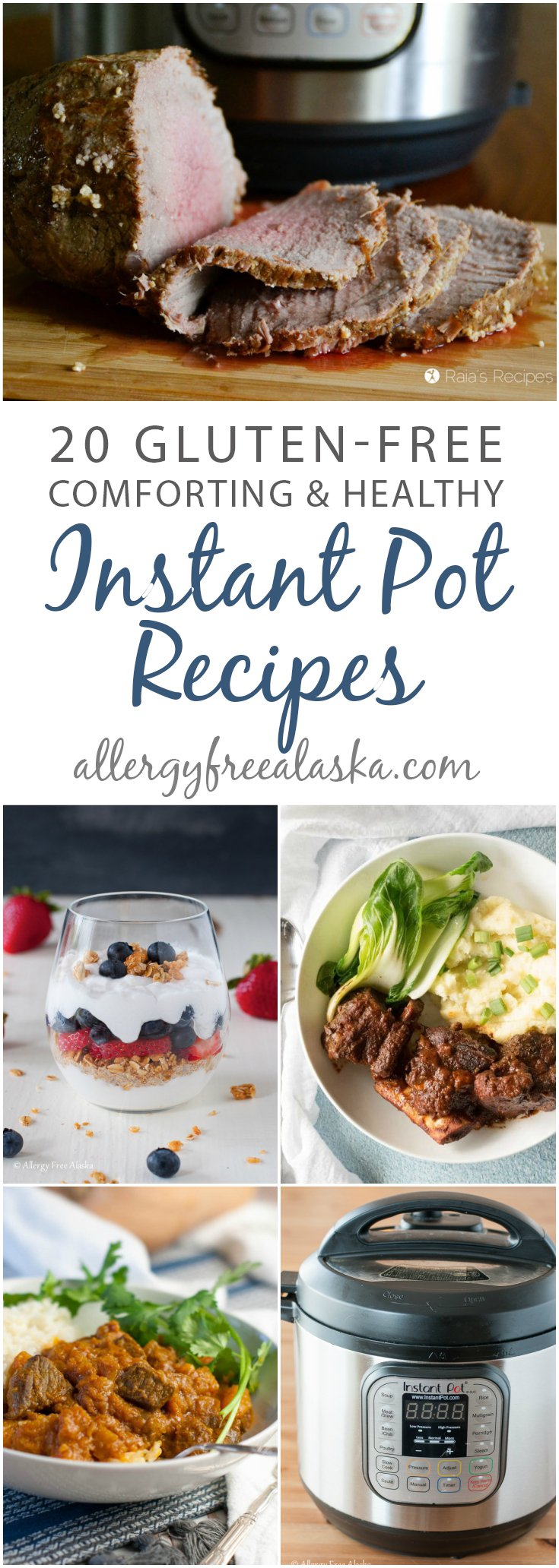 If your days are busy, or you just need a quick and comforting meal, these 20 comforting and healthy gluten-free Instant Pot recipes are for you! #instantpot #gutenfree #comfortfood #healthy #delicious #realfood #paleo #dairyfree #vegan
