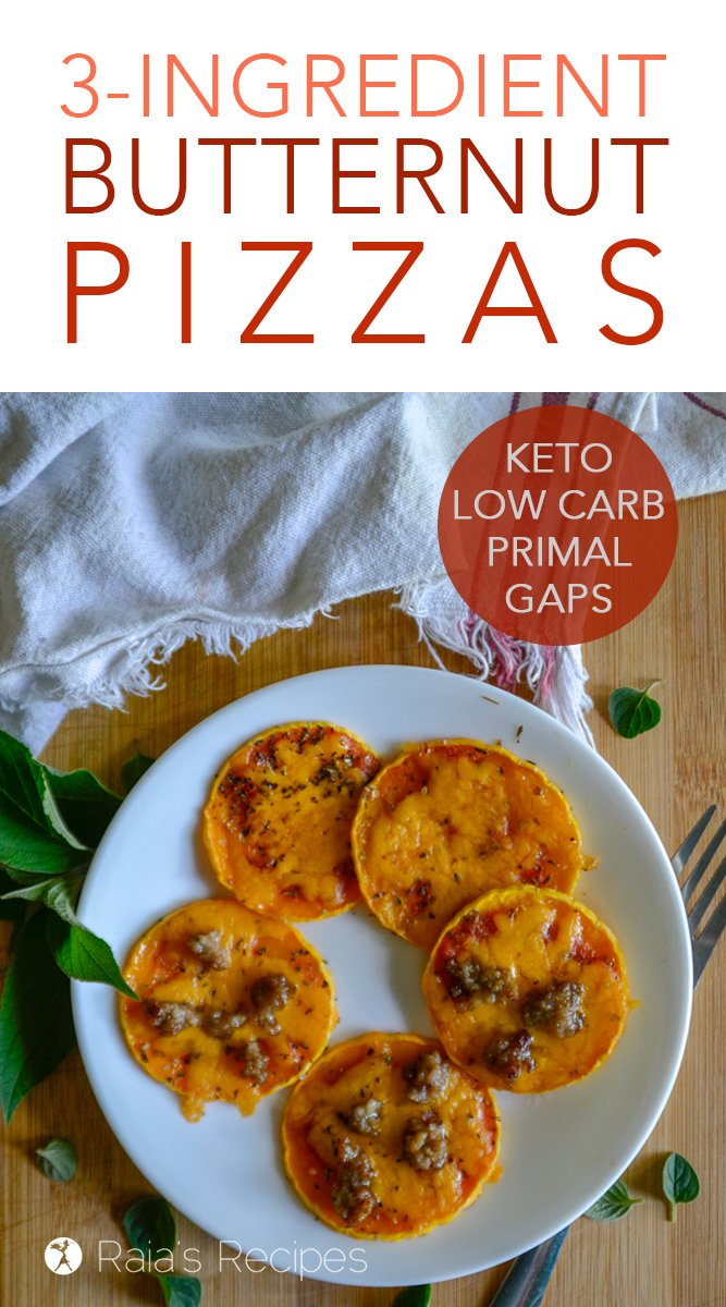 3-Ingredient Butternut Pizzas #primal #glutenfree #gapsdiet #keto #lowcarb #pizza #butternutsquash #vegetarian