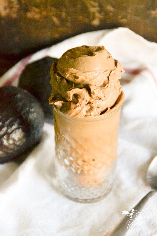 side photo chocolate avocado nice cream from raiasrecipes.com
