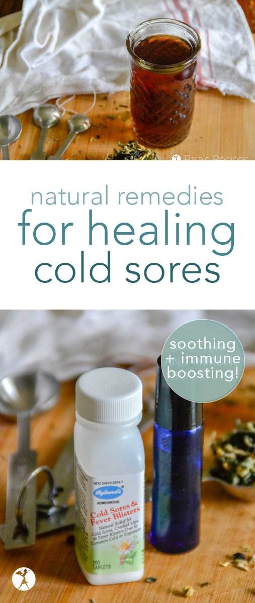 If you or someone you know suffers from cold sores or fever blisters, these natural remedies for healing cold sores are sure to help! Two easy essential oil and herbal recipes included... #coldsores #feverblisters #naturalhealing #herbalremedies #herbs #naturalremedies