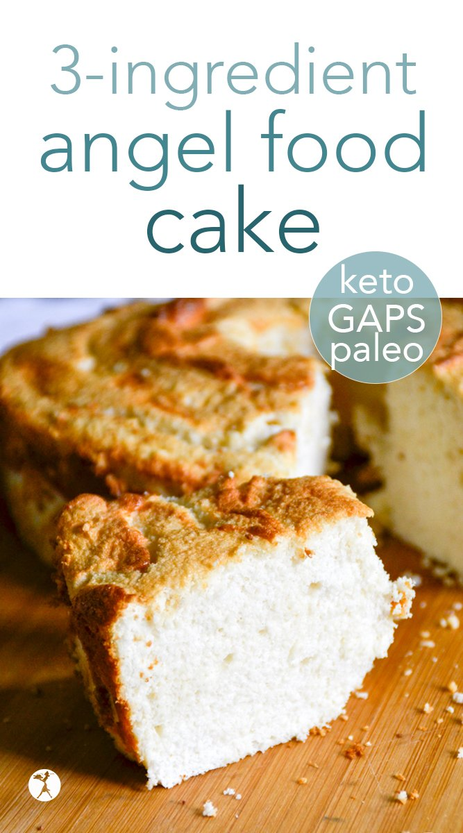 3-Ingredient GAPS, Paleo & Keto Angel Food Cake #gapsdiet #paleo #keto #angelfoodcake #cake #birthdaycake #grainfree #dairyfree #sugarfree #refinedsugarfree #dessert #realfood #glutenfree