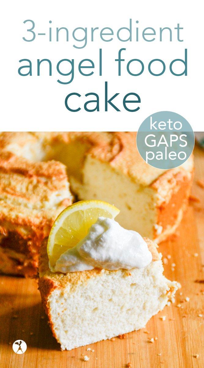 GAPS, Paleo & Keto Angel Food Cake #gapsdiet #paleo #keto #angelfoodcake #cake #birthdaycake #grainfree #dairyfree #sugarfree #refinedsugarfree #dessert #realfood #glutenfree