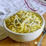 Easy Spaghetti Squash with Creamy White Sauce