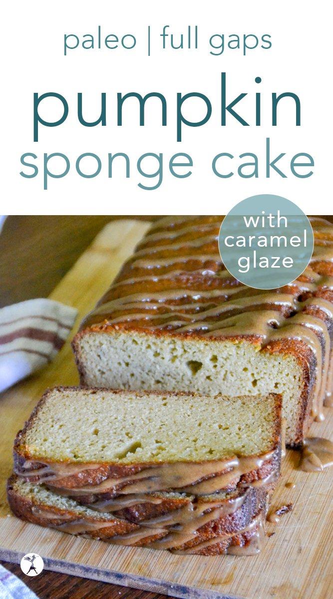 Paleo Pumpkin Sponge Cake with Caramel Glaze  #pumpkin #cake #caramel #paleo #gapsdiet #glutenfree #dairyfree #grainfree #refinedsugarfree #paleodessert
