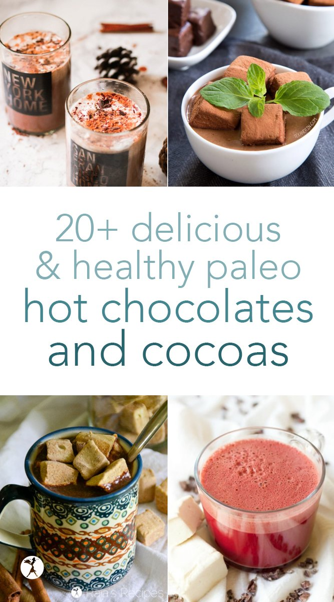 Hot chocolate lovers, feast your eyes! Here are over 20 delicious and nourishing hot chocolates and cocoas perfect for sipping during a chilly morning, noon, or night! Paleo, primal, keto, vegan, and GAPS diet options included so everyone can enjoy. #paleo #gapsdiet #keto #vegan #hotchocolate #hotcocoa #whitehotchocolate #drinks