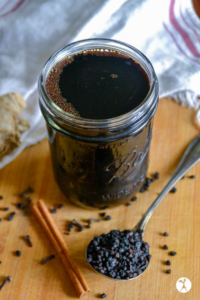 Elderberry Syrup in the Instant Pot from Raia's Recipes