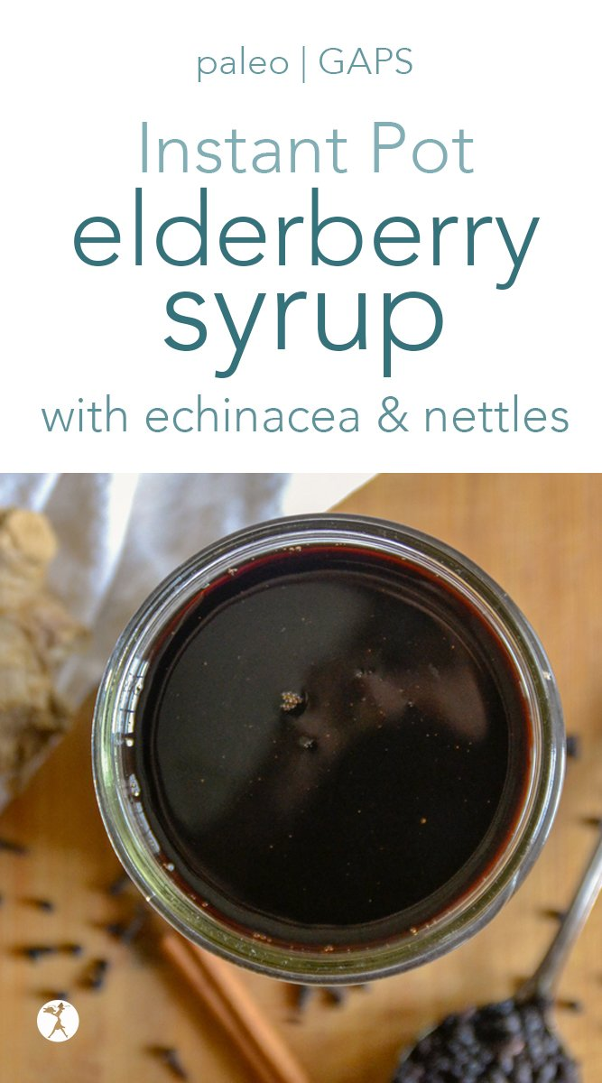 how to make elderberry syrup in the Instant Pot #elderberries #elderberrysyrup #instantpot #immune #healthy #naturalremedies #naturalhealth #paleo #gapsdiet #realfood #glutenfree #herbs