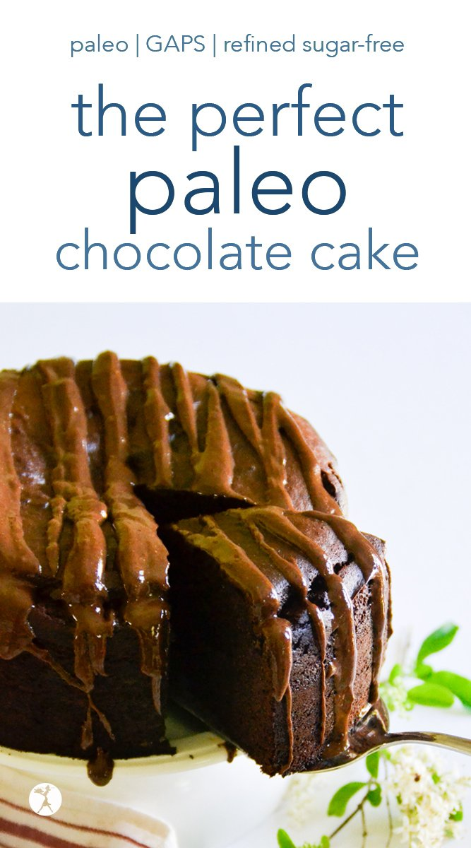 The perfect paleo chocolate cake is right around the corner, friends! This easy, blender cake is full of decadent chocolate flavor and a delicious crumb. It's so easy you'll be making it again and again! #paleo #glutenfree #dairyfree #refinedsugarfree #chocolate #cake #blender #dessert #almondflour #easy