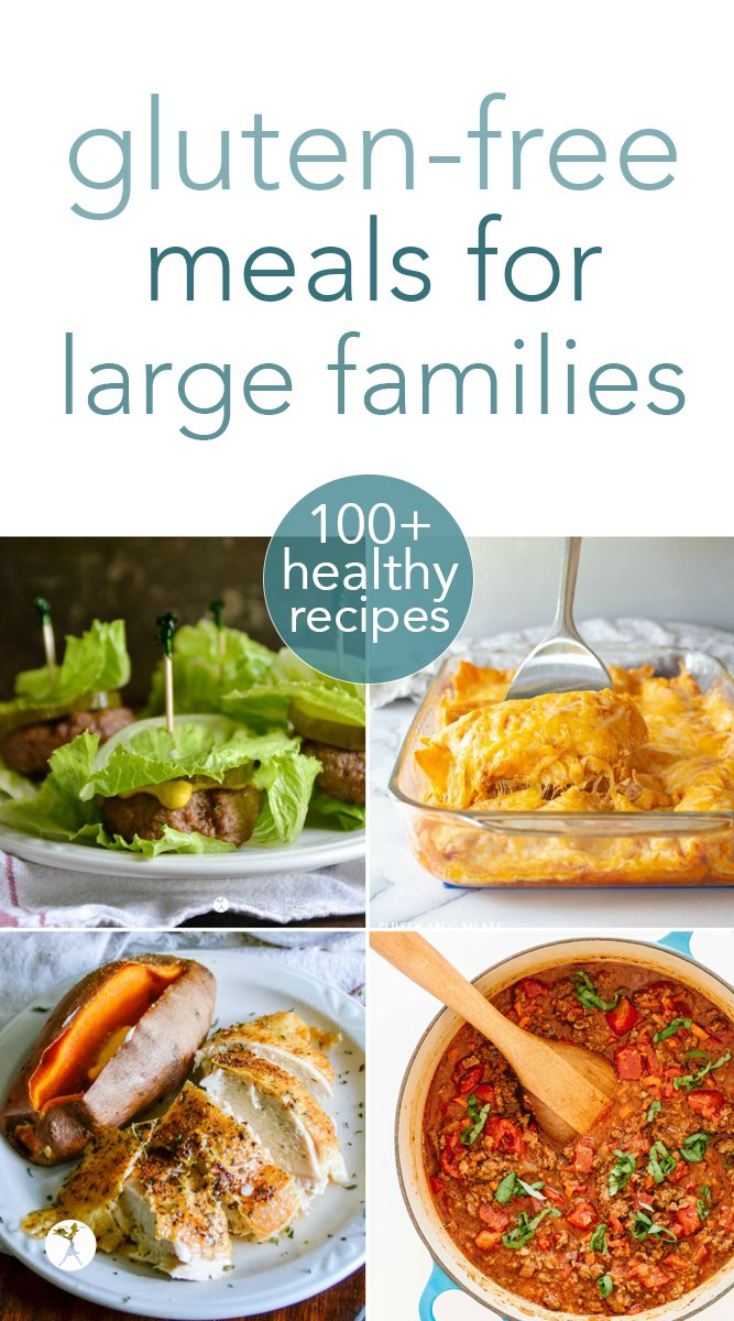 Looking for healthy gluten-free meals to feed your large family? Look no further! From stews and casseroles, to roasts and stir-fries, you're sure to find something to love in these over 100 delicious options! #glutenfree #paleo #keto #vegetarian #healthy #largefamily