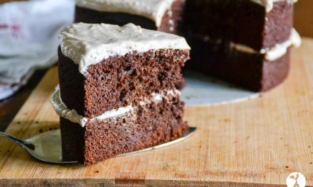 Grain-Free Mexican Chocolate Cake with Cinnamon Cream Cheese Frosting