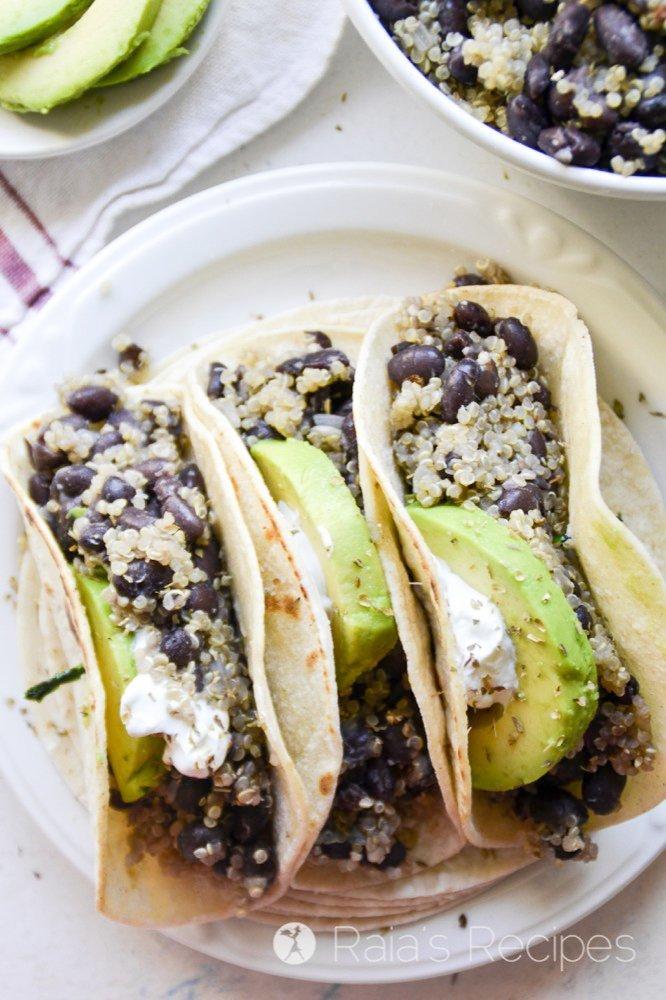 Quinoa Black Bean Tacos from Raia's Recipes
