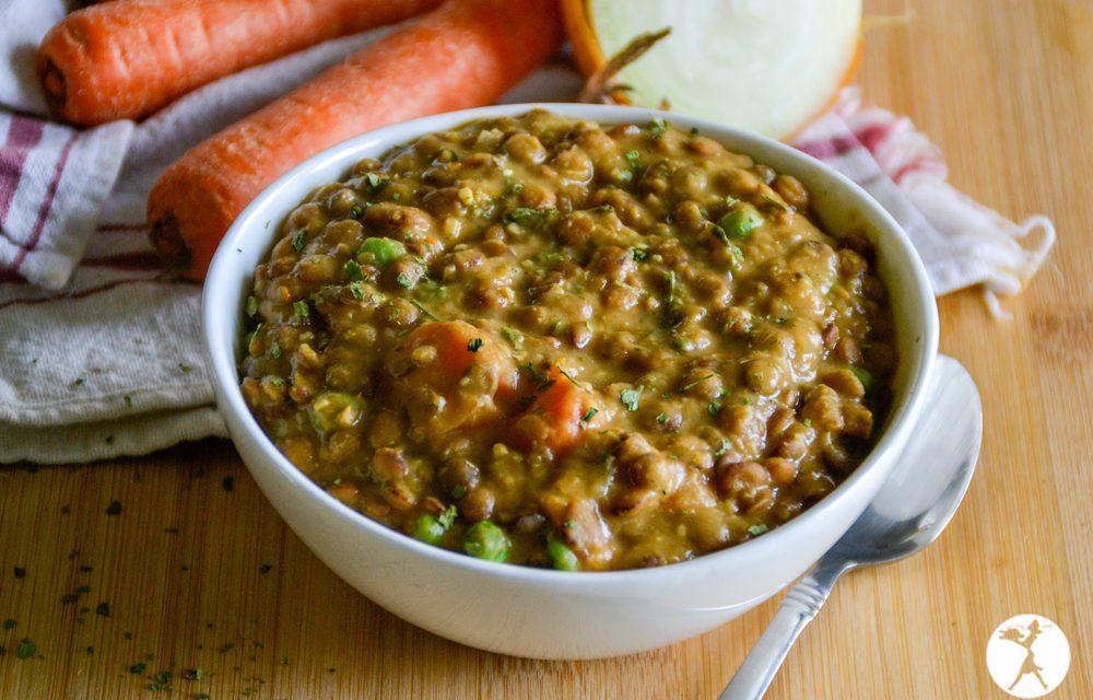 Cheesy Veggie Lentil Stew in the Instant Pot