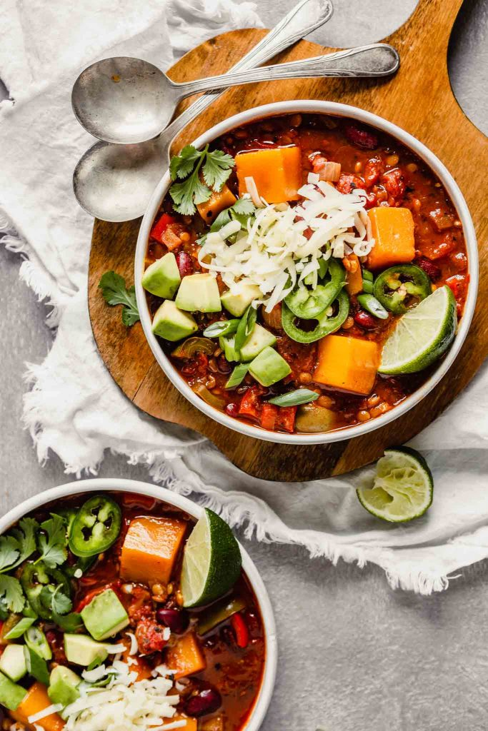Easy Vegetarian Instant Pot Chili from Zestful Kitchen