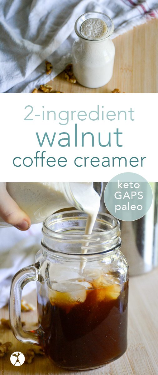 Thick, creamy, 100% dairy-free and packed with nutrition, this paleo and keto walnut coffee creamer is the perfect addition to your morning (or afternoon) pick-me-up! #sponsored #californiawalnuts #walnuts #coffee #creamer #dairyfree #glutenfree #paleo #keto #lowcarb #gapsdiet #vegan #WalnutsSweetOrSavory @cawalnuts