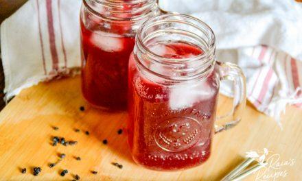 Blueberry Elderberry Water Kefir