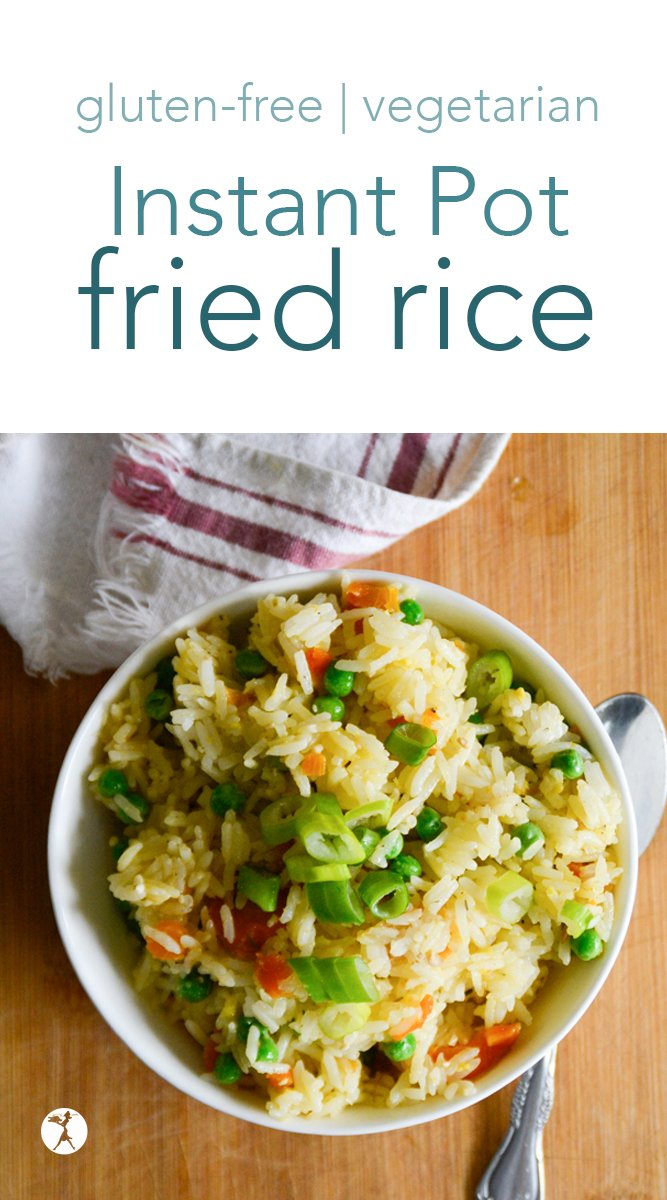 Easy Instant Pot Fried rice for the win! This naturally gluten-free and vegetarian recipe is tasty and fun - a perfect side or easy lunch the whole family will enjoy. #instantpot #friedrice #friedquinoa #dinner #glutenfree #vegetarian #realfood