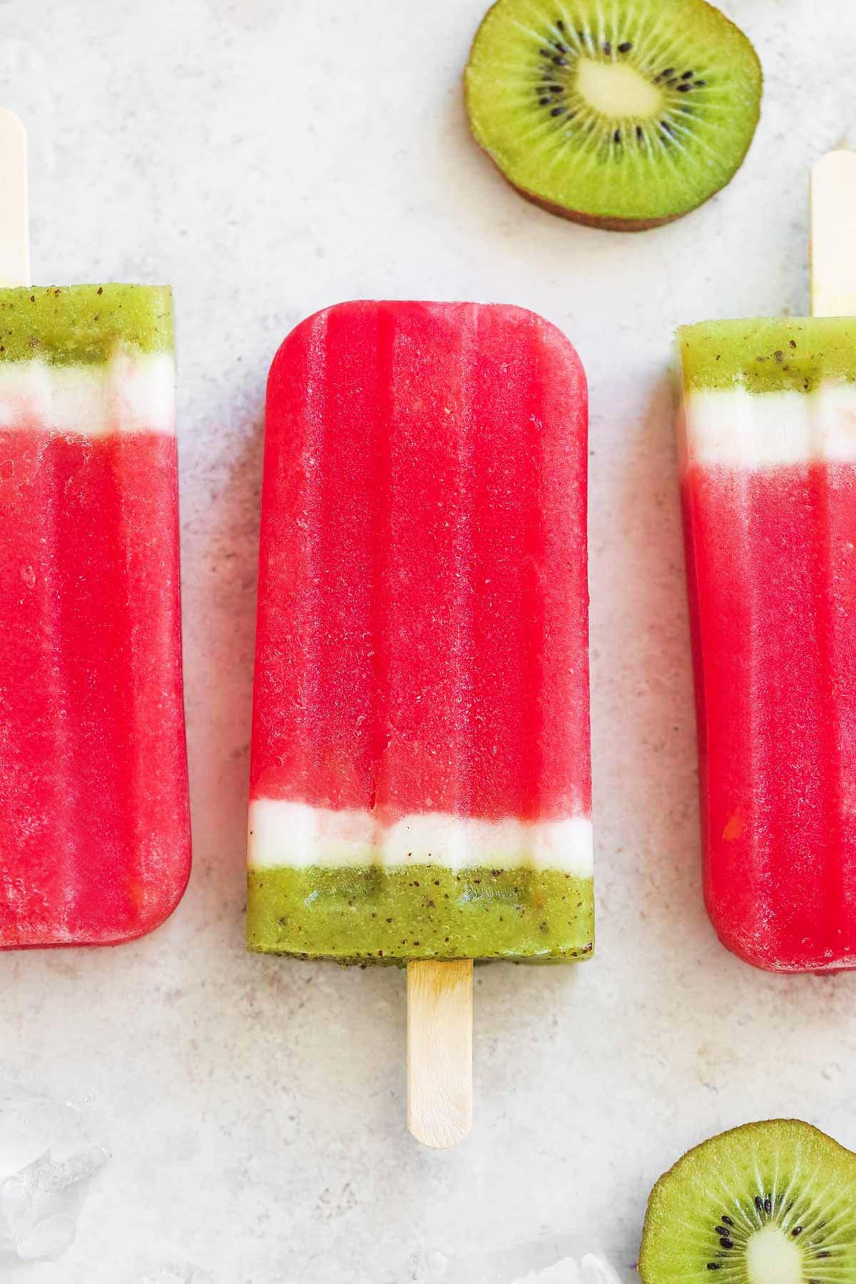 Kiwi Watermelon Popsicles from Little Sunny Kitchen