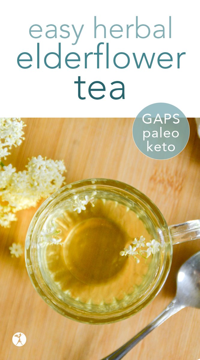 Refresh and nourish yourself with this easy and delicious healing elderflower tea! With only a few ingredients that are packed with nutrition, you'll love sipping on this lovely tea. #elderflower #tea #healing #allergies #herbs #paleo #gapsdiet #lowcarb #keto #realfood #traditional