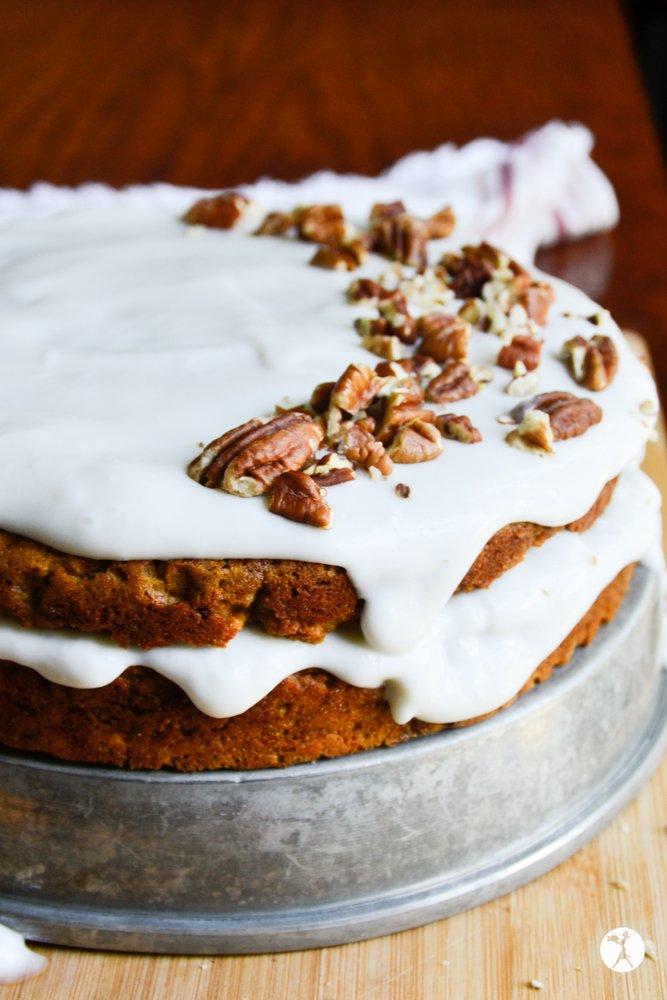 Uncut easy paleo carrot cake from raiasrecipes.com