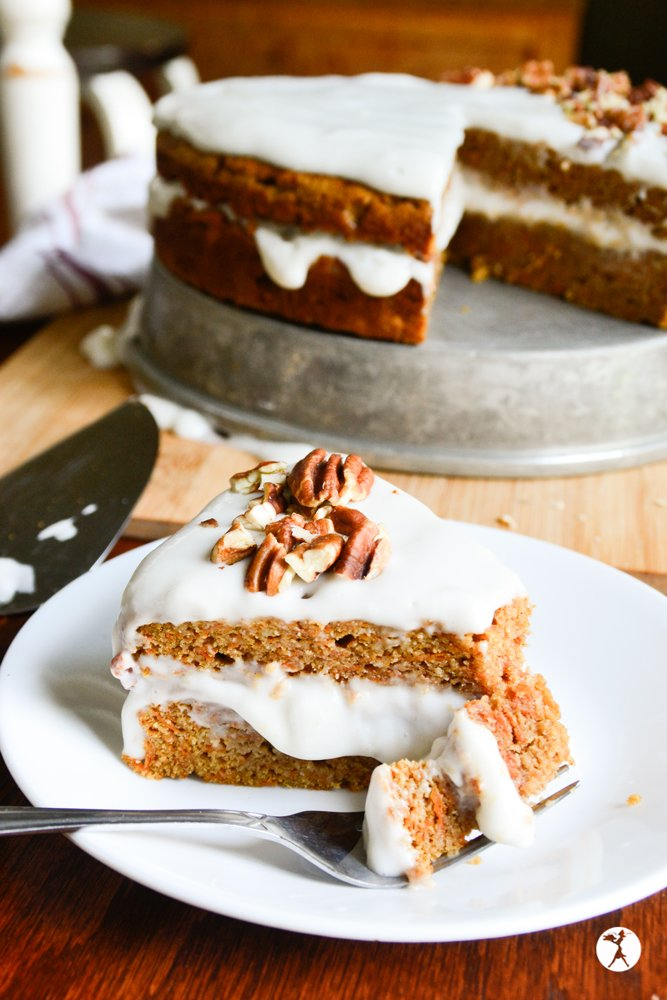 Have a piece of easy paleo carrot cake from raiasrecipes.com