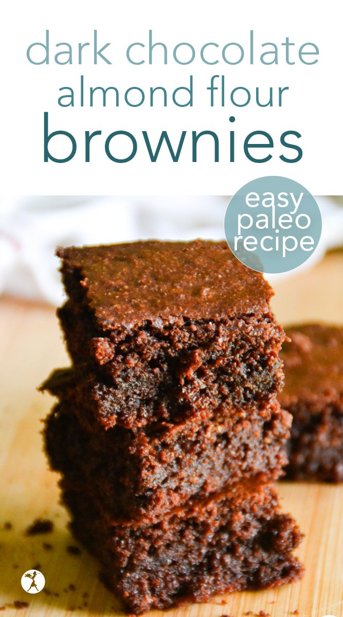 With an amazing soft and moist texture, these perfect dark chocolate almond flour brownies are just what you need to fix that dessert craving. And with no dairy, eggs, or refined sugar, they're a perfectly healthy treat, too! #almondflour #brownies #paleo #vegetarian #eggfree #dairyfree #glutenfree #darkchocolate #healthy #dessert
