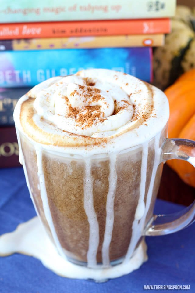 pumpkin spice latte from the rising spoon | paleo pumpkin recipes from raiasrecipes.com