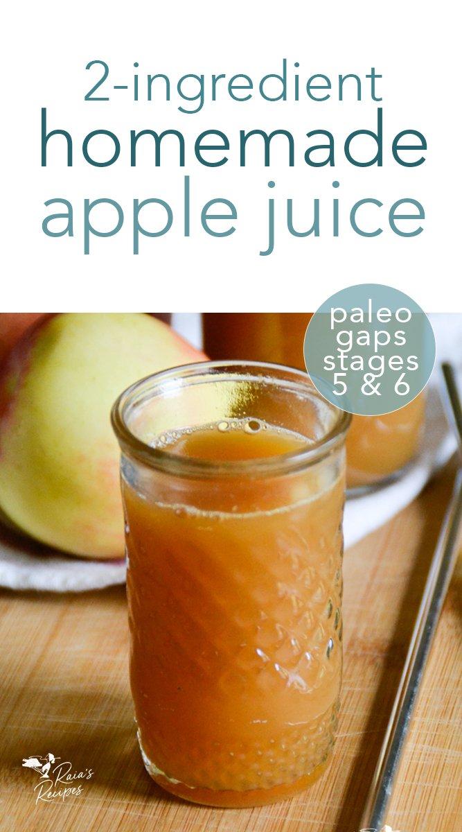 Easy Homemade Apple Juice in the Blender #homemade #applejuice #apples #juice #vegan #paleo #gapsdiet #gapsstage5 #gapsstage6 #gapsintro #DIY #blender
