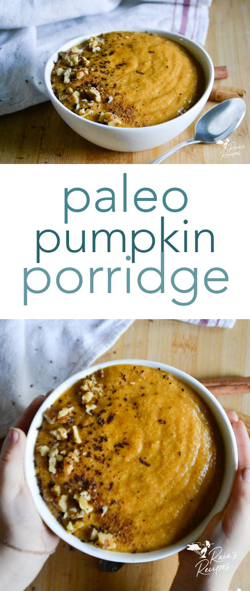 The perfect allergy-friendly breakfast for a chilly morning, this paleo pumpkin porridge is easy to whip up and free from refined sugars, so you can enjoy it without guilt. #breakfast #porridge #paleo #pumpkin #glutenfree #dairyfree #eggfree #nourishing