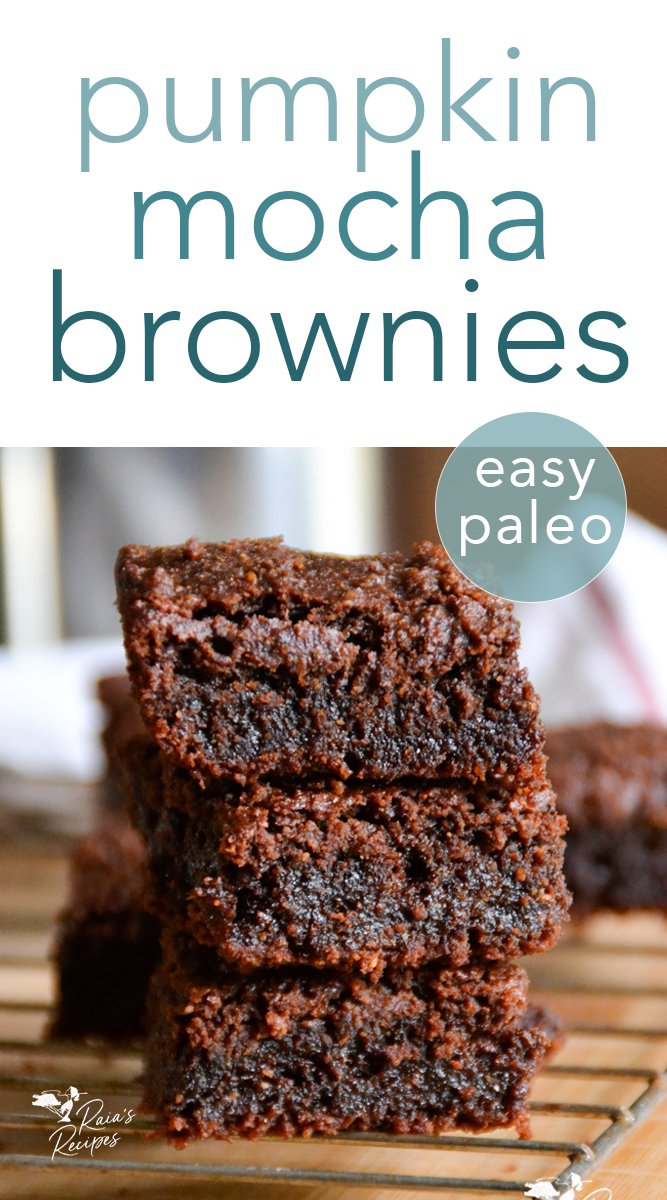 Paleo Pumpkin Mocha Brownies #paleo #pumpkin #mocha #brownies #dessert #chocolate #glutenfree #grainfree #eggfree #pumpkinspice