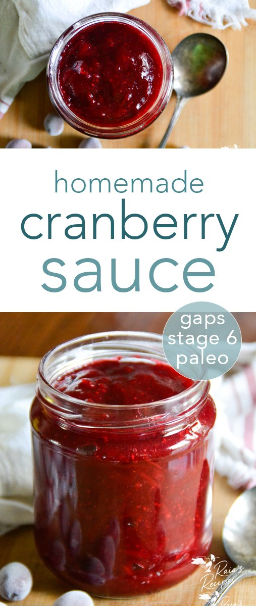 Are you ready to skip the sugar-filled and processed cranberry sauce this holiday season? Start a new, healthier tradition and make your own easy homemade cranberry sauce! It's packed with nutrients, super easy to make, and oh, so delicious! #homemade #cranberry #cranberrysauce #paleo #primal #gapsdiet #introstage6 #glutenfree #dairyfree #eggfree