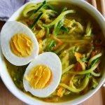Veggie Ramen Zoodle Soup