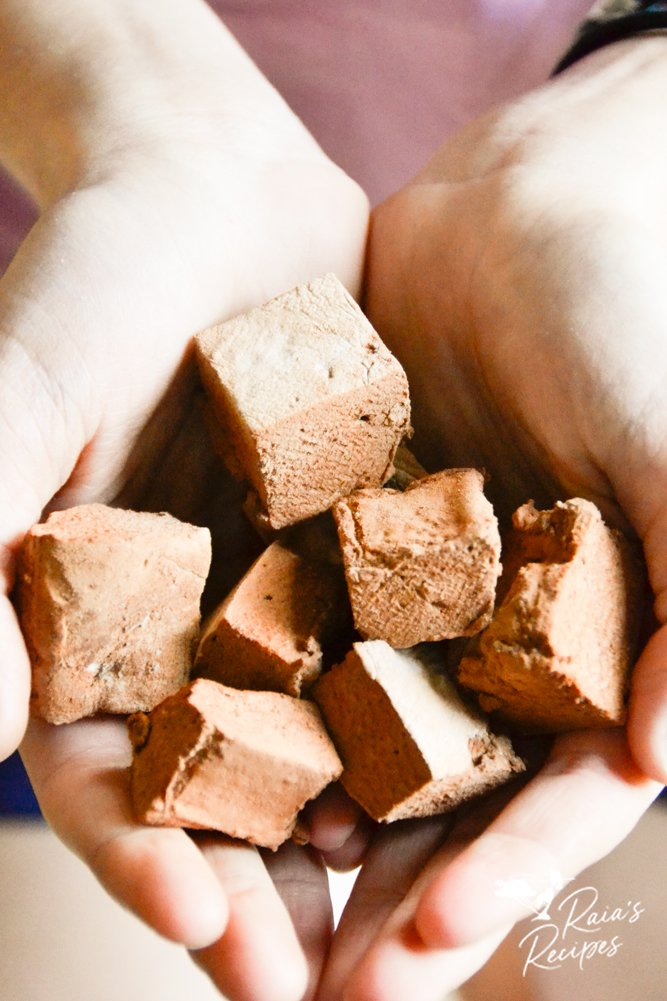 handful of chocolate marshmallows