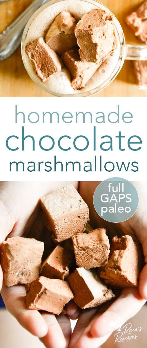 Easy, homemade chocolate marshmallows. #paleo #fullgapsdiet #chocolate #marshmallows